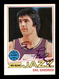 Gail Goodrich Autographed 1977-78 Topps Card #77 New Orleans Jazz SKU #195493