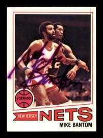 Mike Bantom Autographed 1977-78 Topps Card #68 New Jersey Nets SKU #195494