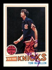 Tom McMillen Autographed 1977-78 Topps Card #66 New York Knicks SKU #195495