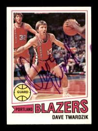 Dave Twardzik Autographed 1977-78 Topps Card #62 Portland Trail Blazers SKU #195496