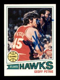 Geoff Petrie Autographed 1977-78 Topps Card #46 Atlanta Hawks SKU #195499