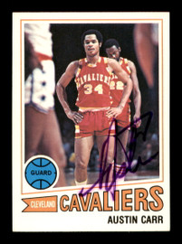 Austin Carr Autographed 1977-78 Topps Card #32 Cleveland Cavaliers SKU #195503