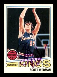 Scott Wedman Autographed 1977-78 Topps Card #17 Kansas City Kings SKU #195506