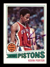 Kevin Porter Autographed 1977-78 Topps Card #16 Detroit Pistons SKU #195507