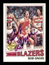 Bob Gross Autographed 1977-78 Topps Card #11 Portland Trail Blazers SKU #195510