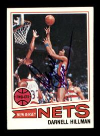 Darnell Hillman Autographed 1977-78 Topps Card #5 New Jersey Nets SKU #195512