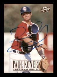 Paul Konerko Autographed 1996 Fleer Excel Rookie Card #177 Los Angeles Dodgers SKU #195698