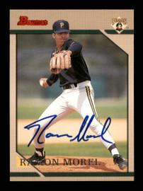 Ramon Morel Autographed 1996 Bowman Rookie Card #135 Pittsburgh Pirates SKU #195720