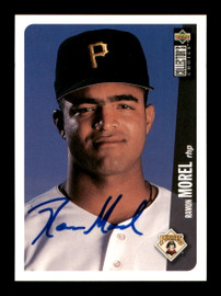Ramon Morel Autographed 1996 UD Collectors Choice Rookie Card #679 Pittsburgh Pirates SKU #195721