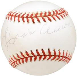 Hank Aaron Autographed Official MLB Baseball Atlanta Braves Beckett BAS #AA46850