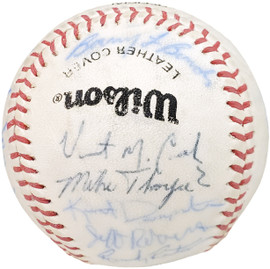 1983 Arizona State Autographed Official Wilson Baseball With 24 Signatures Including Barry Bonds Pre-Rookie Beckett BAS #AA01886