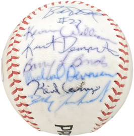 1983 Arizona State Autographed Official Wilson Baseball With 28 Signatures Including Barry Bonds Pre-Rookie Beckett BAS #AA01890
