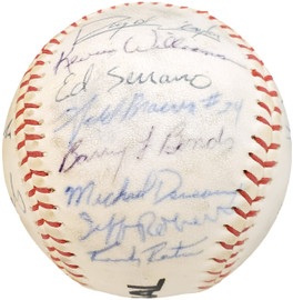 1983 Arizona State Autographed Official Wilson Baseball With 27 Signatures Including Barry Bonds Pre-Rookie Beckett BAS #AA01885