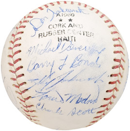 1983 Arizona State Autographed Official Wilson Baseball With 25 Signatures Including Barry Bonds Pre-Rookie Beckett BAS #AA01891