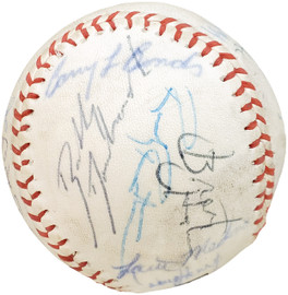 1983 Arizona State Autographed Official Wilson Baseball With 24 Signatures Including Barry Bonds Pre-Rookie Beckett BAS #AA01887