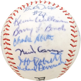 1983 Arizona State Autographed Official Wilson Baseball With 28 Signatures Including Barry Bonds Pre-Rookie Beckett BAS #AA01888