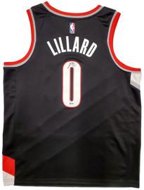 Portland Trail Blazers Damian Lillard Autographed Black Nike Jersey Size XL Beckett BAS Stock #195900