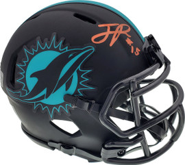 Jaelan Phillips Autographed Miami Dolphins Eclipse Black Speed Mini Helmet Beckett BAS QR Stock #195939