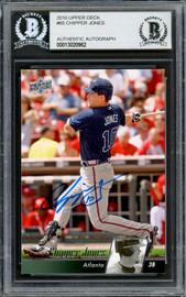 Chipper Jones Autographed 2010 Upper Deck Card #65 Atlanta Braves Beckett BAS #13020962