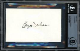 Byron Nelson Autographed 3x5 Index Card Beckett BAS #13021004