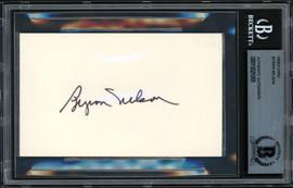 Byron Nelson Autographed 3x5 Index Card Beckett BAS #13021005
