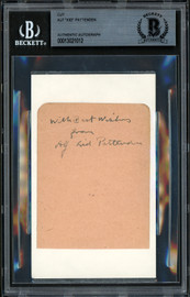 """Alf Kid Pattenden Autographed 2.5x3.5 Cut """"With Best Wishes"""" Beckett BAS #13021012"""
