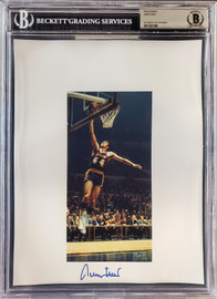 Jerry West Autographed 8.5x11 Photo Sheet Los Angeles Lakers Beckett BAS Stock #196049