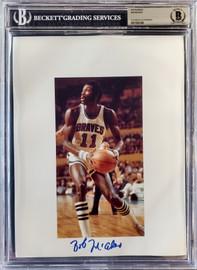 Bob McAdoo Autographed 8.5x11 Photo Sheet Buffalo Braves Beckett BAS Stock #196062