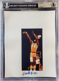 Connie Hawkins Autographed 8.5x11 Photo Sheet Los Angeles Lakers Beckett BAS Stock #196064