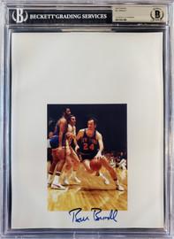 Bill Bradley Autographed 8.5x11 Photo Sheet New York Knicks Beckett BAS Stock #196065