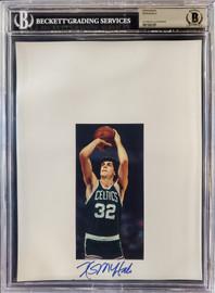 Kevin McHale Autographed 8.5x11 Photo Sheet Boston Celtics Beckett BAS Stock #196066