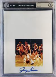 Jerry Lucas Autographed 8.5x11 Photo Sheet New York Knicks Beckett BAS Stock #196070