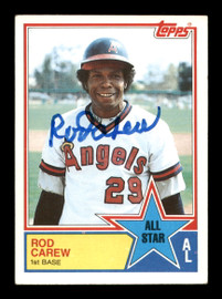 Rod Carew Autographed 1983 Topps All Star Card #386 California Angels SKU #196116
