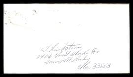 "Fred ""Freddie"" Lindstrom Autographed 3.5x6.5 Envelope Cincinnati Reds SKU #196220"