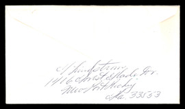 "Fred ""Freddie"" Lindstrom Autographed 3.5x6.5 Envelope Cincinnati Reds SKU #196221"