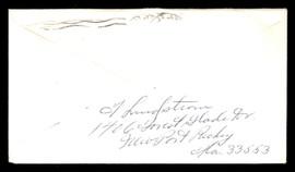 "Fred ""Freddie"" Lindstrom Autographed 3.5x6.5 Envelope Cincinnati Reds SKU #196222"