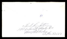 "Fred ""Freddie"" Lindstrom Autographed 3.5x6.5 Envelope Cincinnati Reds SKU #196223"