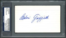 Calvin Griffith Autographed 3x5 Index Card Minnesota Twins Owner PSA/DNA #83862551