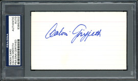 Calvin Griffith Autographed 3x5 Index Card Minnesota Twins Owner PSA/DNA #83862552