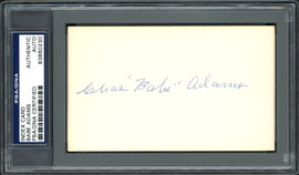 """Charles """"Babe"""" Adams Autographed 3x5 Index Card Pittsburgh Pirates PSA/DNA #83860230"""