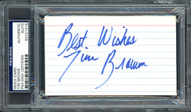 """Tim Brown Autographed 3x5 Index Card Oakland Raiders """"Best Wishes"""" PSA/DNA #83721318"""