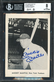 Mickey Mantle Autographed 1961 Team Issued 5x7 Photo #11 New York Yankees BGS 8 Auto Grade Near Mint/Mint 8 Beckett BAS #11319486