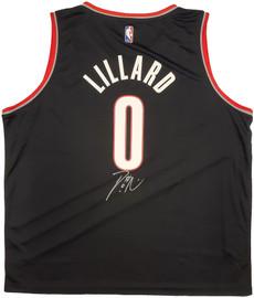 Portland Trail Blazers Damian Lillard Autographed Black Fanatics Jersey Size XXL Beckett BAS Stock #196413