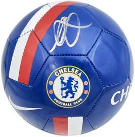 Mason Mount Autographed Blue Nike Soccer Ball Chelsea F.C. Beckett BAS Stock #196467