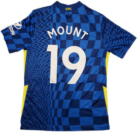 Chelsea F.C. Mason Mount Autographed Blue Nike Jersey Size M in Silver Beckett BAS Stock #196479