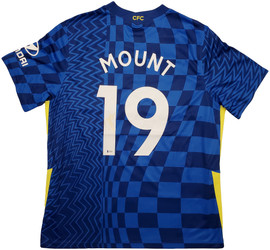 Chelsea F.C. Mason Mount Autographed Blue Nike Jersey Size XL in Gold Beckett BAS Stock #196482
