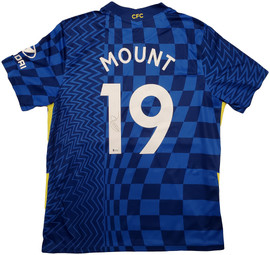 Chelsea F.C. Mason Mount Autographed Blue Nike Jersey Size XL in Silver Beckett BAS Stock #196484