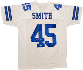 Dallas Cowboys Rod Smith Autographed White Jersey Beckett BAS Stock #196486