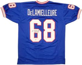"""Buffalo Bills Joe DeLamielleure Autographed Blue Jersey """"HOF 03"""" Beckett BAS Stock #196490"""