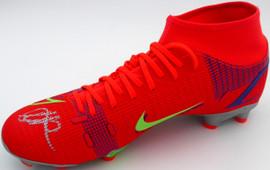 Mason Mount Autographed Orange Nike Mercurial Cleat Shoe Chelsea F.C. Size 8 Beckett BAS #K06317